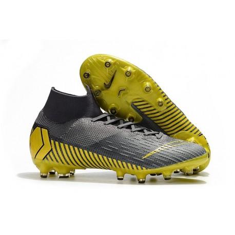 Nike Mercurial Superfly 6 Elite AG-Pro Soccer Cleats Dark Grey