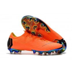 Nike Mercurial Vapor 12 Elite AG-PRO Cleats - Orange Black