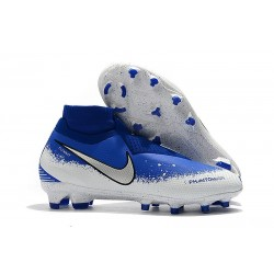 Nike Phantom Vision Elite DF FG Soccer Boots - Blue White