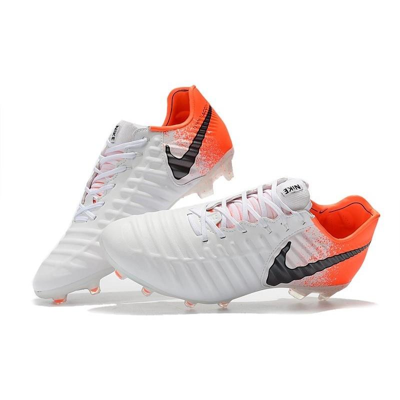 size 40 39b5c f0424 Nike Tiempo Legend 7 Elite FG New Soccer Cleats - White Orange
