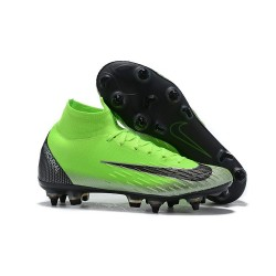 Cristiano Ronaldo Nike Mercurial Superfly 6 Elite SG Anti-Clog Green Black