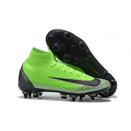 Cristiano Ronaldo Nike Mercurial Superfly 6 Elite SG Anti-Clog Green Black