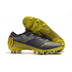Nike Mercurial Vapor 12 Elite AG-PRO Cleats - Grey Yellow