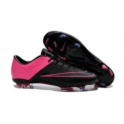 Nike Mercurial Vapor X FG Firm Ground Football Shoes Black Pink