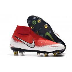 Nike Phantom Vision Elite DF SG-Pro Anti-Clog Red White Silver