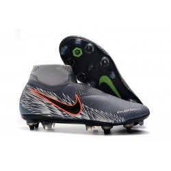 Nike Phantom Vision Elite DF SG-Pro Anti-Clog Gray Silver
