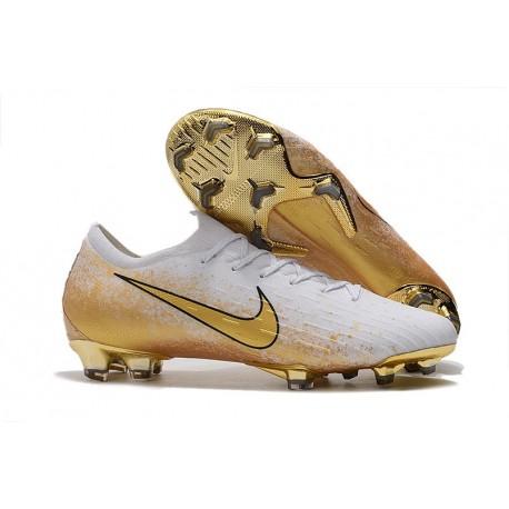 Nike Mercurial Vapor 12 Elite FG Soccer Boot White Gold