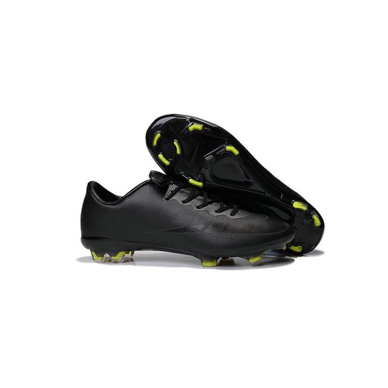 more photos 5fecd 9ad6e Nike Mercurial Vapor X FG Firm Ground Football Shoes All Black