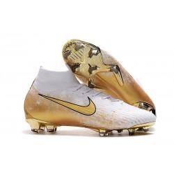 Nike Mercurial Superfly VI 360 Elite FG Cleat - White Golden