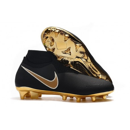Top Nike Phantom Vision Elite DF FG Firm Ground Shoes Black Gold