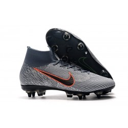 Nike Mercurial Superfly 6 Elite SG Anti-Clog Cleats Wolf Grey Orange