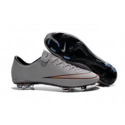 Nike Mercurial Vapor X FG Firm Ground Football Shoes Metallic Silver White