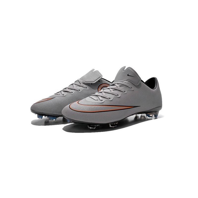 40f9cbe196ba Nike Mercurial Vapor X FG Firm Ground Football Shoes Metallic Silver White