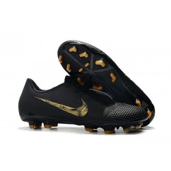 Nike Phantom Venom Elite FG New Boots Black Metallic Gold