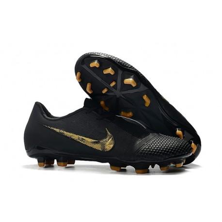 Nike Phantom Venom Elite FG New Boots Black Metallic Gold