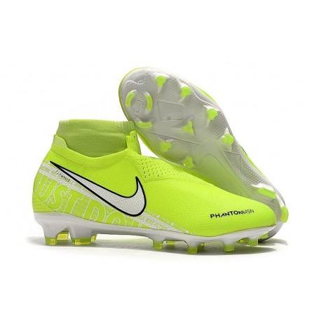 Top Nike Phantom Vision Elite DF FG Firm Ground Shoes Volt White
