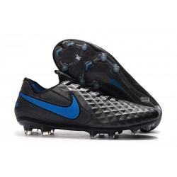 New Nike Tiempo Legend VIII FG Soccer Cleats Black Blue Hero