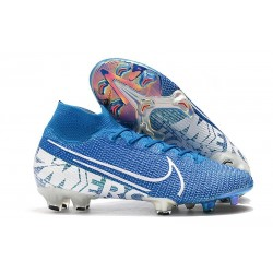 Nike Mercurial Superfly 7 Elite FG New Cleat Blue Hero White Obsidian