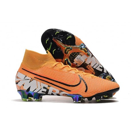 Nike Mercurial Superfly 7 Elite FG New Cleat Orange White Black