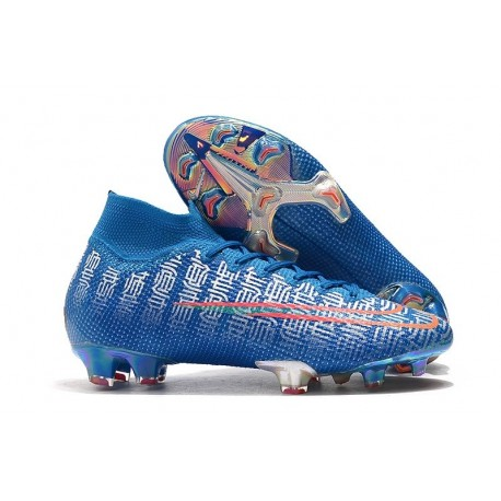 Nike Mercurial Superfly 7 Elite FG New Cleat Blue Red