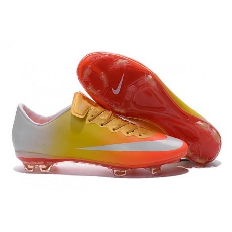 Cristiano Ronaldo Nike Mercurial Vapor 10 FG ACC Orange Yellow White