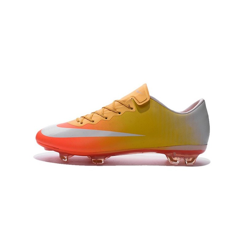 Connu Cristiano Ronaldo Nike Mercurial Vapor 10 FG ACC Orange Yellow White AB91