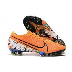 Nike Mercurial Vapor 13 Elite FG Cleat Orange White