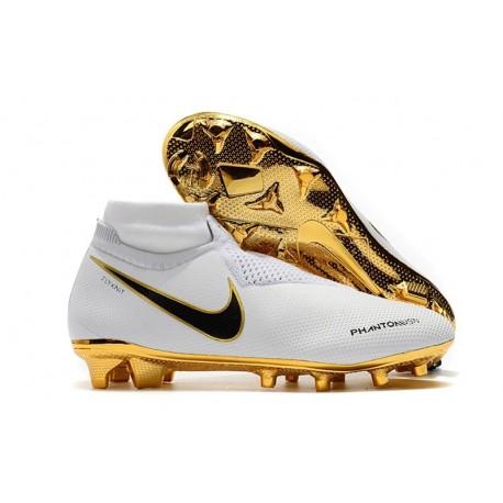 Nike Phantom Vision Elite Dynamic Fit FG Cleat - White Gold
