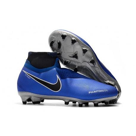 Nike Phantom Vision Elite Dynamic Fit FG Cleat - Blue Black