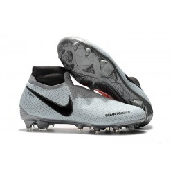 Nike Phantom Vision Elite Dynamic Fit FG Cleat - Grey Red