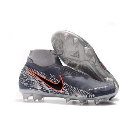 Nike Phantom Vision Elite DF FG Soccer Boots - Armory Blue Crimson Black
