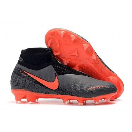 Top Nike Phantom Vision Elite DF FG Firm Ground Shoes Black Crimson