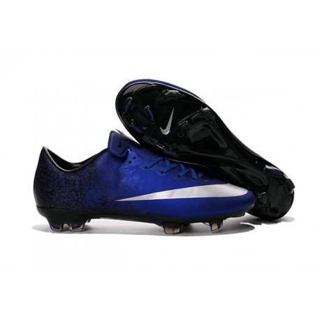 07b4e3ebb Cristiano Ronaldo Nike Mercurial Vapor 10 FG ACC Deep Royal Blue Silver