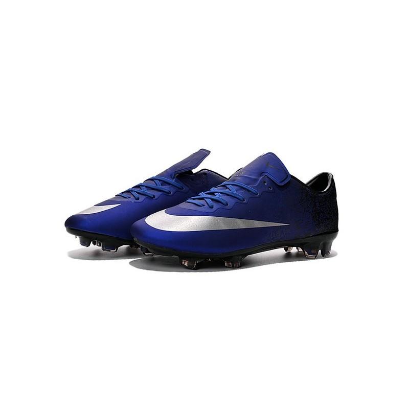 2521f5d046e7d Cristiano Ronaldo Nike Mercurial Vapor 10 FG ACC Deep Royal Blue Silver