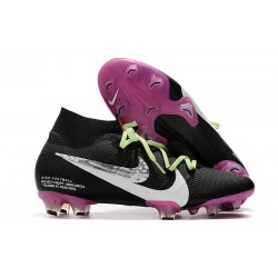 Nike Mercurial Superfly 7 Elite FG New Cleat Black Purple White