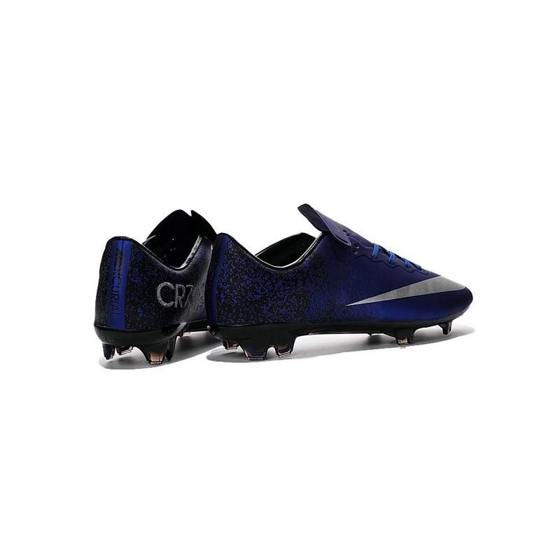 buy online a63be bd08c Cristiano Ronaldo Nike Mercurial Vapor 10 FG ACC Deep Royal Blue Silver