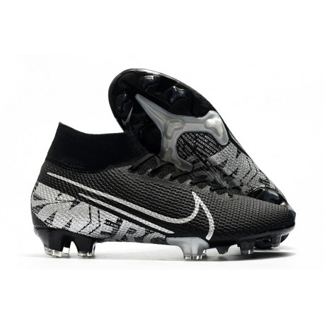 Nike Mercurial Superfly 7 Elite FG New Cleat Black Metallic Cool Grey