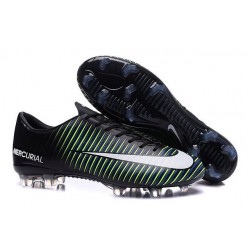 New Nike Mercurial Vapor XI FG Men Soccer Cleat Black White Blue