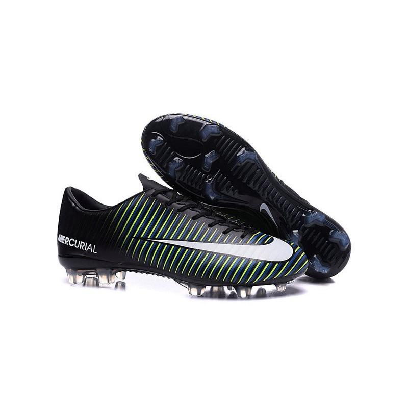 254ecb107987 New Nike Mercurial Vapor XI FG Men Soccer Cleat Black White Blue Maximize.  Previous. Next