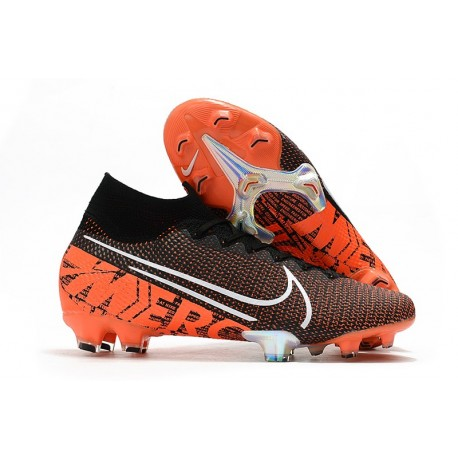 Nike Mercurial Superfly 7 Elite FG New Cleat Black Hyper Crimson
