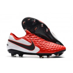 New Nike Tiempo Legend VIII FG Soccer Cleats Red White Black
