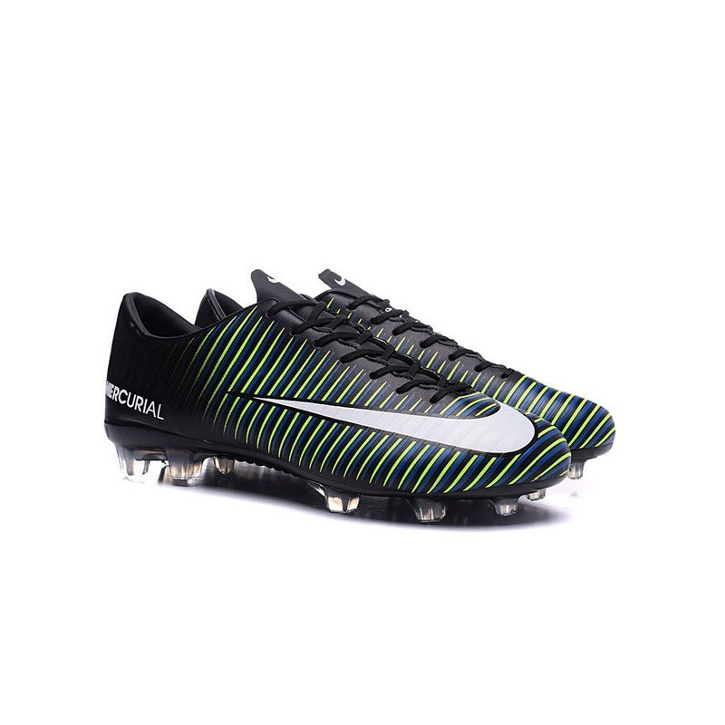 9cfdbecc020f New Nike Mercurial Vapor XI FG Men Soccer Cleat Black White Blue