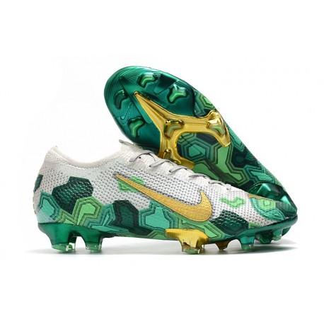 New Mbappe Nike Mercurial Vapor XIII Elite ACC FG Grey Gold Green