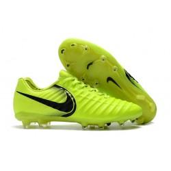 Nike Tiempo Legend VI K-leather ACC FG Soccer Boots Fluo Yellow Black