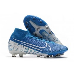 Nike Mercurial Superfly 7 Elite AG-PRO New Lights - Blue Hero/White