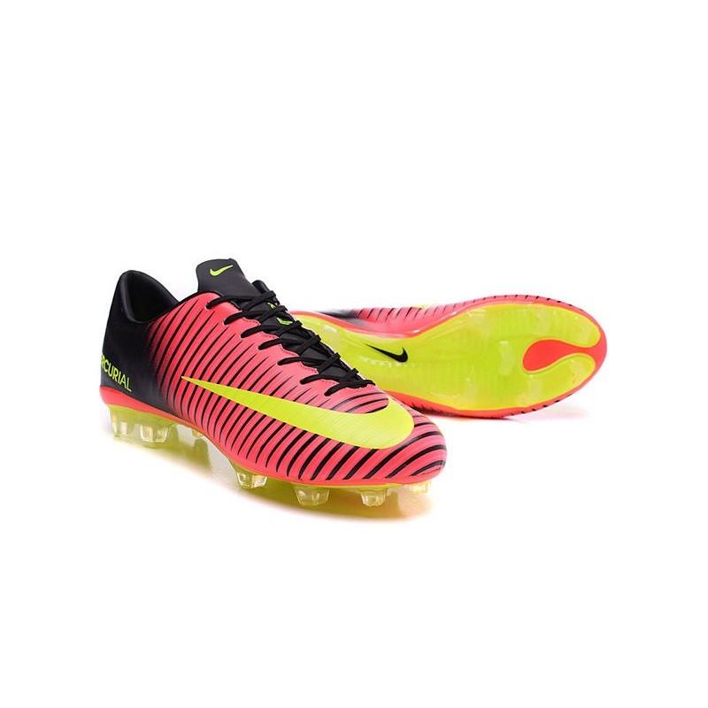 New Nike Mercurial Vapor XI FG Men Soccer Cleat Red Yellow Black Maximize.  Previous. Next 4c2f3da40041
