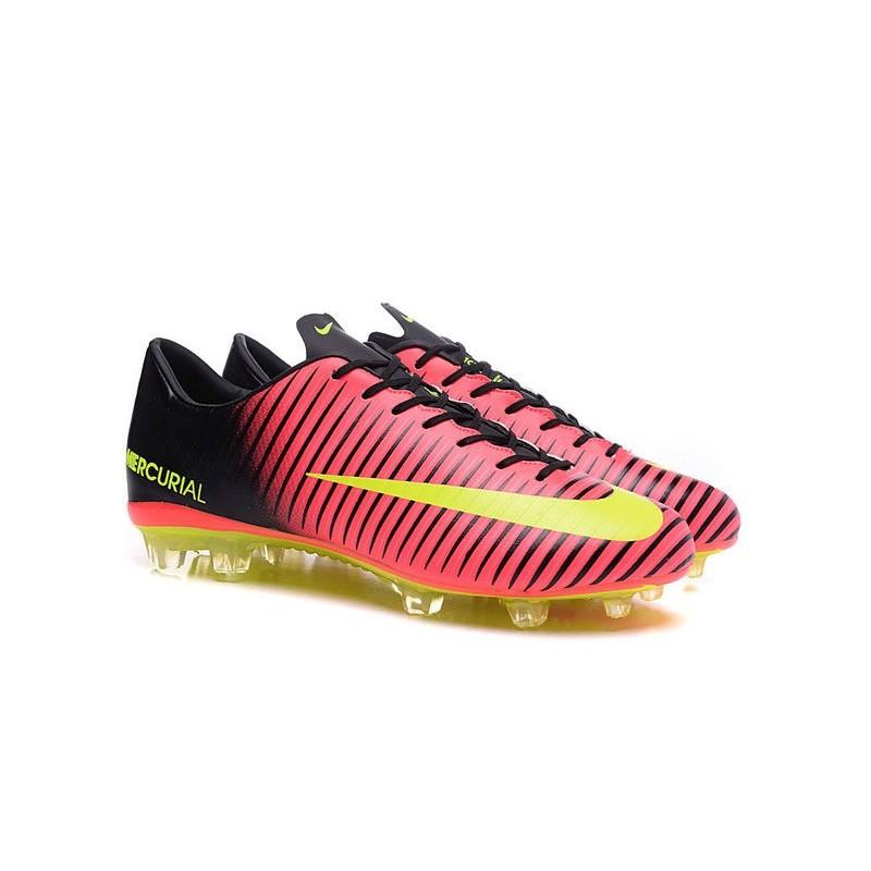 New Nike Mercurial Vapor XI FG Men Soccer Cleat Red Yellow Black 45004ff2d58a