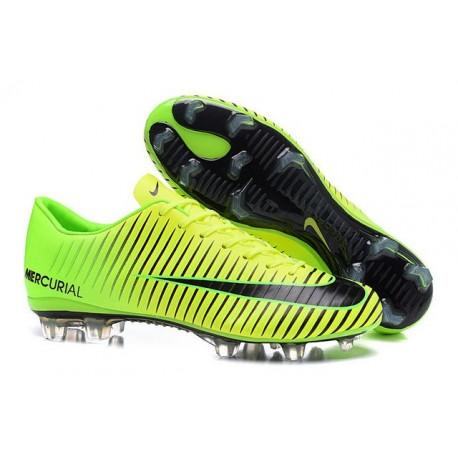 New Nike Mercurial Vapor XI FG Men Soccer Cleat Green Black
