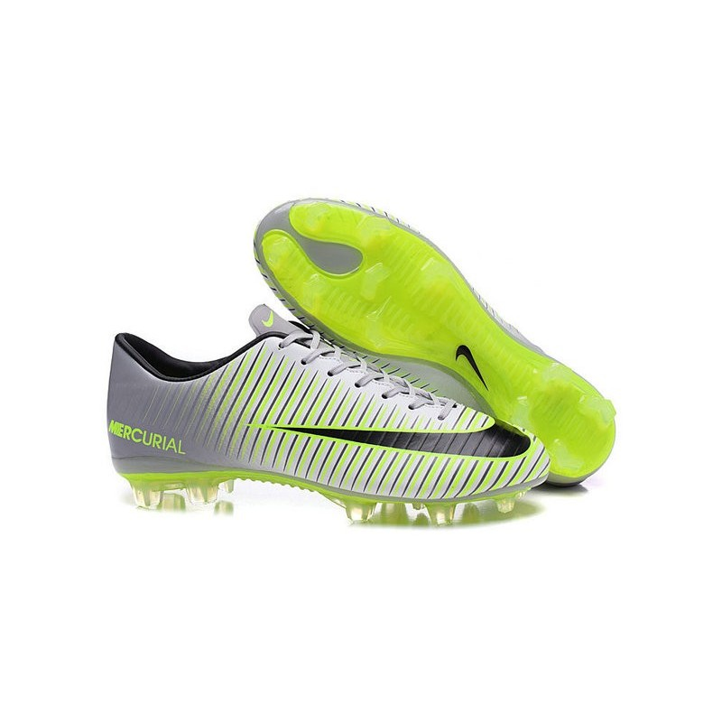 017b0ec26 New Nike Mercurial Vapor XI FG Men Soccer Cleat Silver Green Black