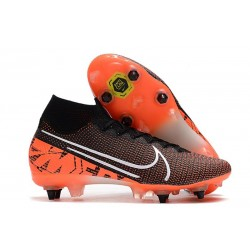 Nike Mercurial Superfly VII Elite SG-PRO AC Limited Edition Black White Hyper Crimson